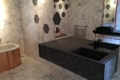 Plan marbre noir Matrix