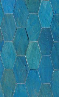 compo hexa bleu turquoise