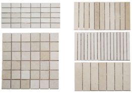 Mosaiques Thala beige 5x5-2.5x5-4x15-1.5x15-2.5x15