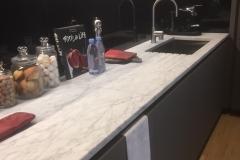 Plan de cuisine marbre carrare adouci